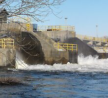 Hydro Dam- Trent River- Campbellford Ontario Canada by Les Wazny