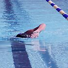 Swimmer Warming Up in a Lap Pool by Buckwhite