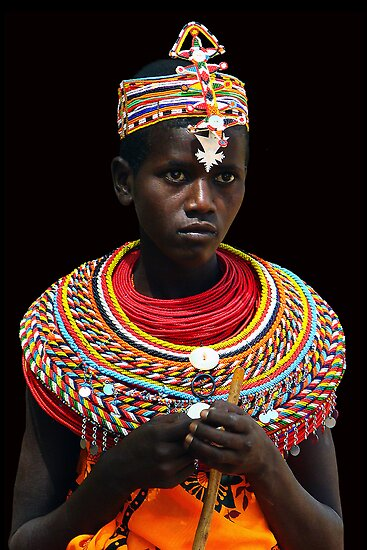 SAMBURU GIRL - KENYA 2 by Michael Sheridan