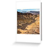 Golden Canyon Sunrise Greeting Card