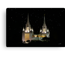 San Diego Temple Starry Night 20x30 Canvas Print