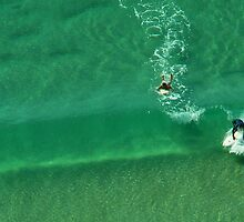 Surfing at Surfers Paradise by Jude Glenn