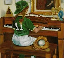 """""""Take Me Out to the Ball Game"""", in the style of Norman Rockwell by Cathy Amendola"""