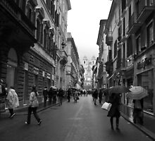 shopping in via Condotti, Rome by Andrea Rapisarda