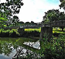Footbridge Across the River by Tracy DeVore