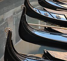 Gondolas in waiting by Frank Donnoli