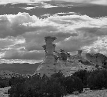 Hoodoo Island, near Chimayo, New Mexico by Mitchell Tillison