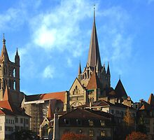 Lausanne Cathedral by Peter Reid