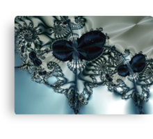 Blue Butterfly Lace III Canvas Print
