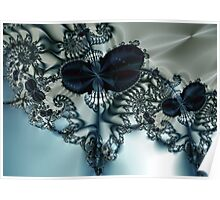 Blue Butterfly Lace III Poster
