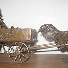 Express wagon with Rooster Pulling by Lilalee5