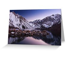 Last Light, Convict Lake Greeting Card