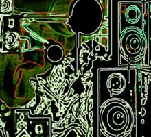 wire frame side-step  Sticker