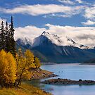 Medicine Lake, in Fall, Jasper National Park, Alberta, Canada by photosecosse /barbara jones