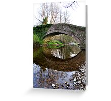 The Pack Horse Bridge at West Burton Greeting Card