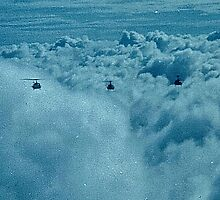 "VFR ON TOP 6 SHIP HUEY ""V"" FORMATION OVER VIETNAM 1970 by Charles Lee Emerson, Author, Minister, Poet, Publisher"