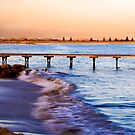 Sunset at Beachport Jetty in landscape by Elana Bailey