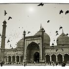 Mosque. Old Delhi, India #4 by Mauricio Abreu