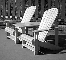 Black & White Lawn Chairs by Rita James