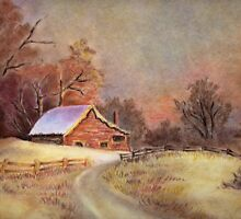 Landscape (*featured in group fantastic primitive art) by sneha