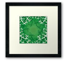 Background with ornament Framed Print