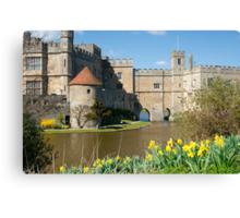 Leeds Castle Kent UK: Springtime Easter Canvas Print