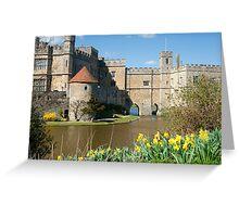 Leeds Castle Kent UK: Springtime Easter Greeting Card