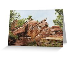 Zions Canyon #2 Greeting Card
