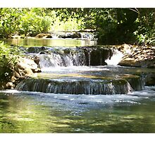 Waterfall  On The  River Photographic Print