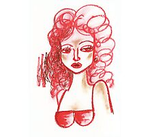 Lip Stick Girl Photographic Print
