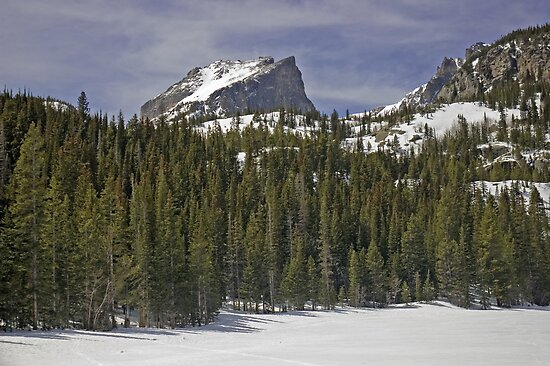 Last Snow at Bear Lake by Luann wilslef