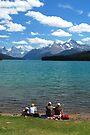 Lunch Time - Maligne Lake Canada by Barbara Burkhardt