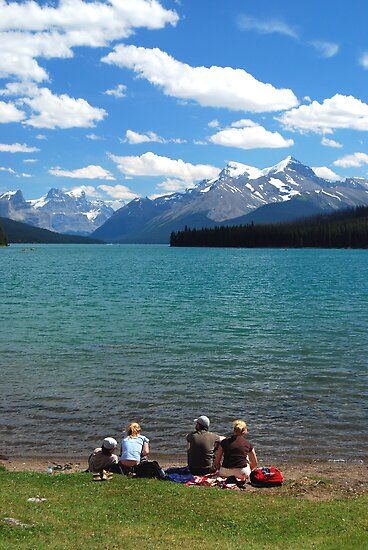 Lunch Time - Maligne Lake Canada by Barbara Burkhardt