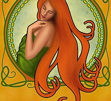 Art Nouveau Girl by HSartwork