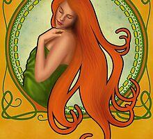 Art Nouveau Girl by HSartwork