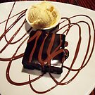 chocolate brownie and ice-cream! by pyko