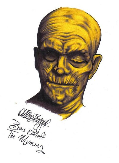 Boris Karloff as The Mummy by AlischaTrigger