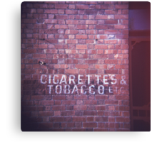 cigarettes & tobacco etc... Canvas Print