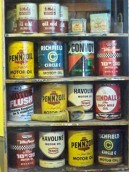 Vintage Motor Oil Can Collection By Diane Trummer