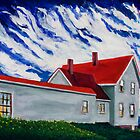 Monhegan Island sky by Dave  Higgins