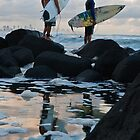 Two Surfers by D Byrne
