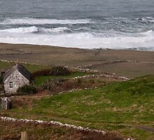 Cruel ocean sea in west of ireland. Doolin, County Clare. by upthebanner