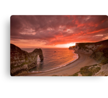 185 Million Year Old Sunset - The Jurassic Coast World Heritage Site Series  Canvas Print