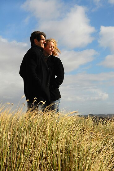 Douglas & Holly in the dunes by RachPortfolio