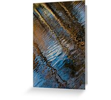 Into Chaos Blue 2 Greeting Card