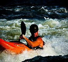 James River Kayaker by Dave Parrish