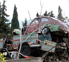 Car Cemetery (Cars of the '50s) by Bentrouvakis