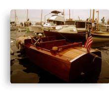 Vintage Speedboat Canvas Print