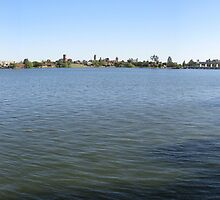 Yarrawonga and Bridge Panorama by David Hunt