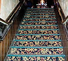 Stairs in Pub a converted church  by Ann Persse